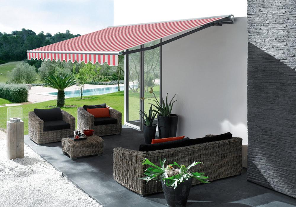 Markise Rot Und Regenschutz Fr Terrassen Sonnensegel
